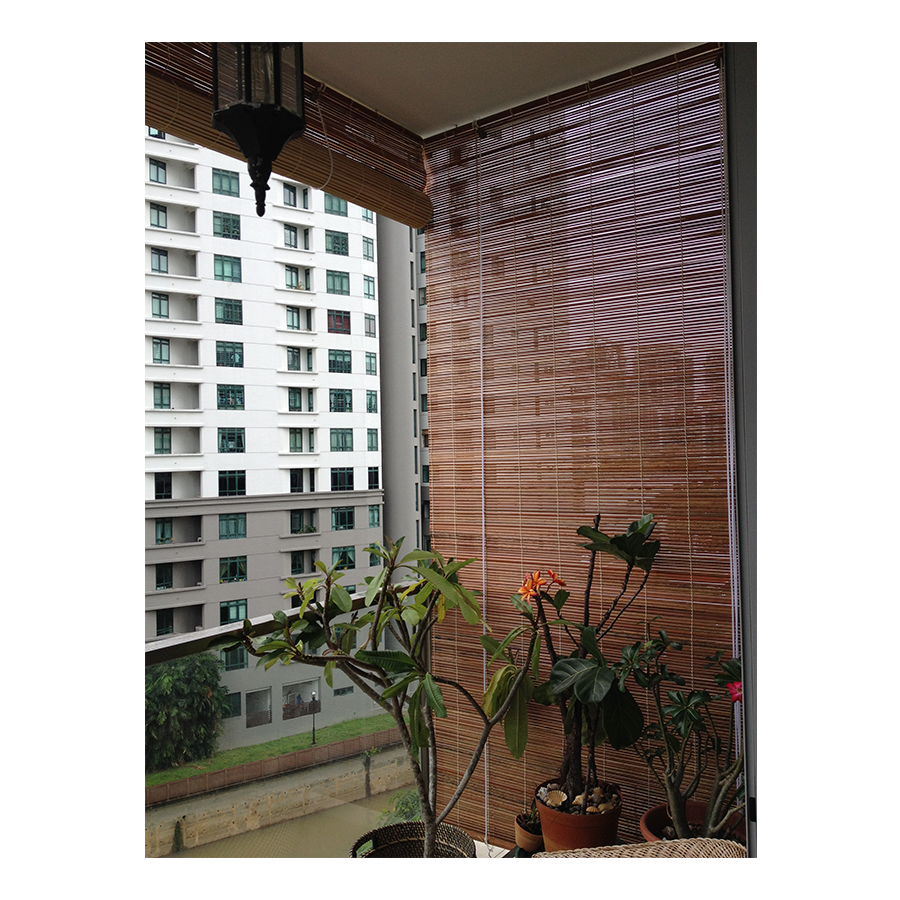 Outdoor bamboo curtains - Beat The Heat In Singapore With Bamboo Blinds