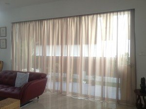 Sheer Beige Day Curtains