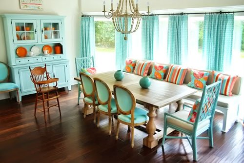 ... Turquoise Curtain Living Room Home Decor Part 53