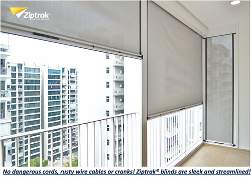Ziptrak Singapore Genuine Quality Zip Blinds From Australia