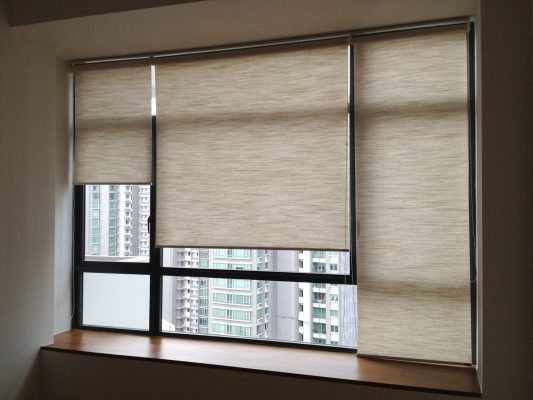 Roller Blinds in Living Room